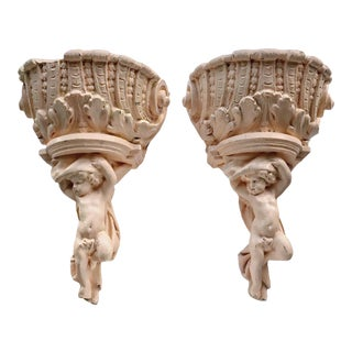 Antique Plaster Wall Sconces From the Original 1911 Pantages San Francisco For Sale