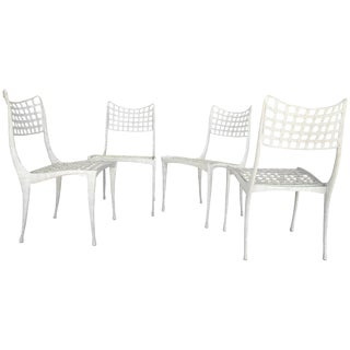 Vintage Dan Johnson Gazelle Cast Metal Dining Chairs - Set of 4 For Sale