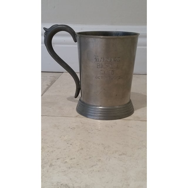 Chrome Harvard 1883 Bicycle Club Horses & Hounds Pewter Tankard/Mug For Sale - Image 8 of 9