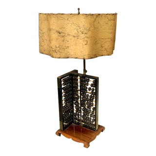 Double Abacus Mid Century Table Lamp For Sale