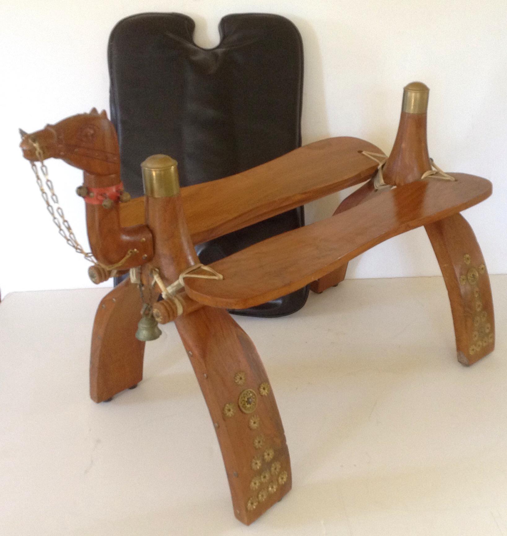 Moroccan Camel Saddle Stool | Chairish