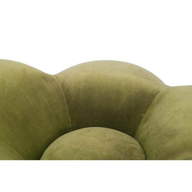 Green Edra Soshun Low Stools in Green Velvet by Masanori Umeda For Sale - Image 8 of 11