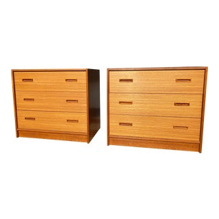 1970s Danish Teak Bachelors Chests - a Pair For Sale