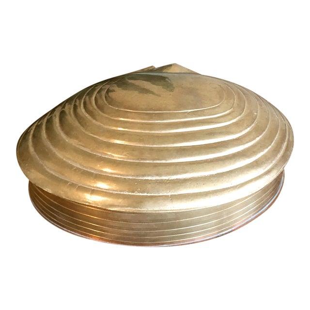 Brass Shell Trinket Box For Sale