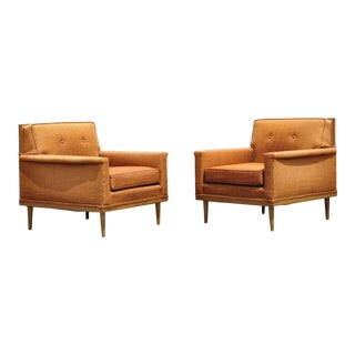 Pair Mid Century Modern Paul McCobb Style Club Lounge Chairs by j.b. Sciver For Sale