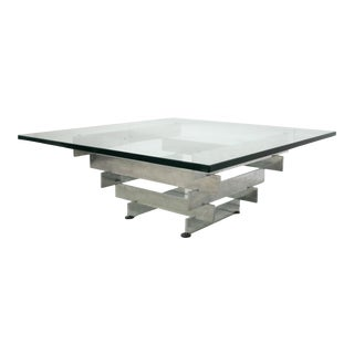 Paul Mayen for Habitat Stacked Chrome Coffee Table For Sale