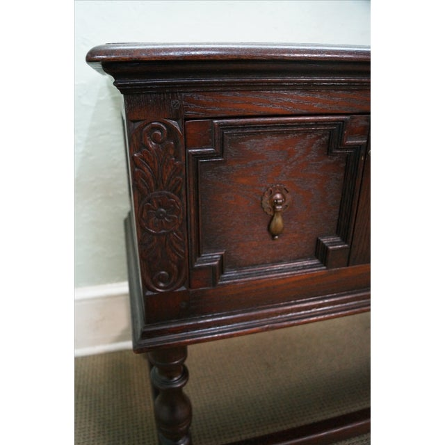 Antique Solid Oak Jacobean Style Sideboard - Image 5 of 10