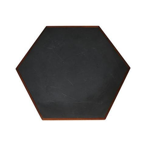 Mid-Century Modern 1960s Slate & Walnut Six Sided Table For Sale - Image 3 of 9