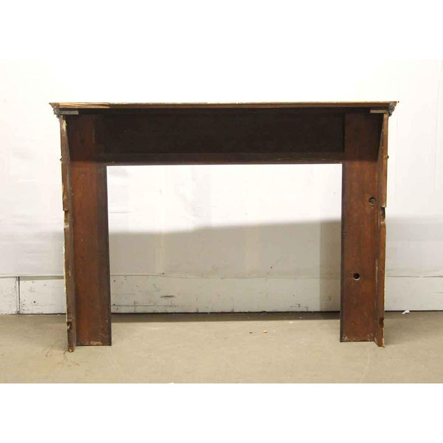Brown Antique Wooden Regency Mantel With Faux Marble Look For Sale - Image 8 of 10