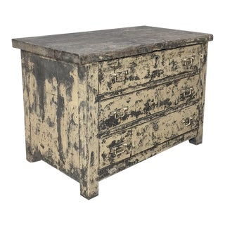 Mid-Century French Industrial Commode For Sale