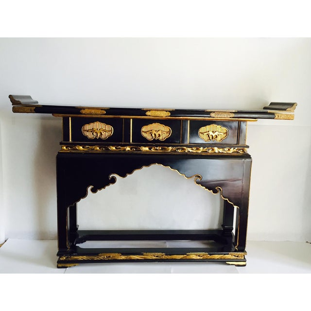 1930's Chinese Temple Table Chinoiserie Console - Image 7 of 10