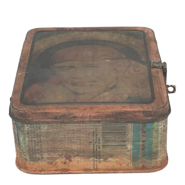 These vintage lunch boxes features a colorful hand painted Indian man on the top of the box. Use them as a decorative...