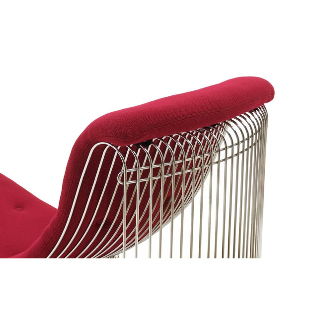 Pantonova Chaise or Chair and Ottoman by Verner Panton, Fine and Rare Example For Sale In Kansas City - Image 6 of 9