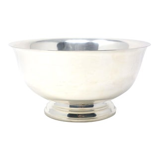 "9"" Paul Revere Footed Silver Bowl For Sale"