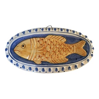 Vintage Ceramic Fish Mold-Made in Japan For Sale