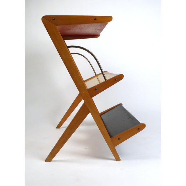 Rare 1950s Magazine Rack or Newspaper Holder For Sale In Dallas - Image 6 of 9