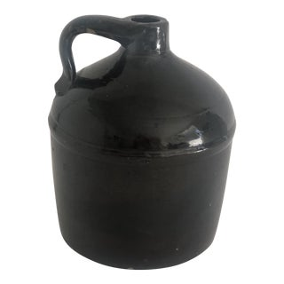 Antique Farmhouse Stoneware Jug For Sale