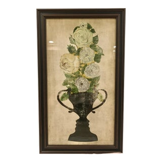 Vintage Floral Trophy Framed Print For Sale