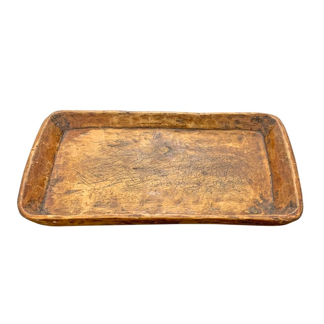 19th Century Carved Wood Tray For Sale - Image 4 of 10