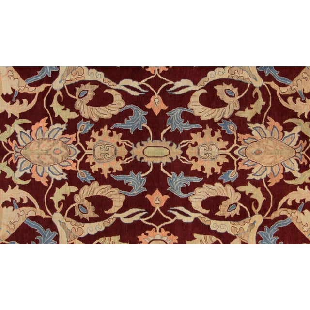 "Traditional Kafkaz Peshawar Antoinet Red & Blue Wool Rug - 10'3"" x 14' For Sale - Image 3 of 7"