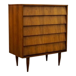 Mid Century Modern Danish Highboy Dresser / Chest