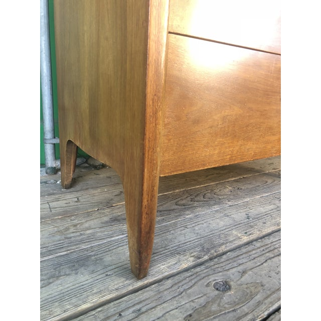 1960s Mid Century Modern Profile Highboy Dresser by Drexel For Sale - Image 9 of 13