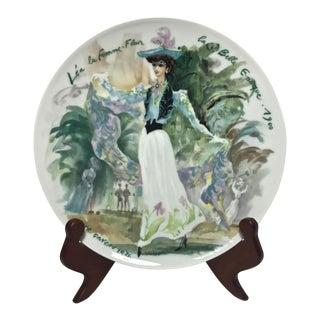 """Limoges Les Femmes Du Siecle, """"Léa"""" Decorative Plate For Sale"""