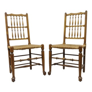 L. & J. G. Stickley Fayetteville Queen Anne Cherry Valley Dining Chairs - A Pair