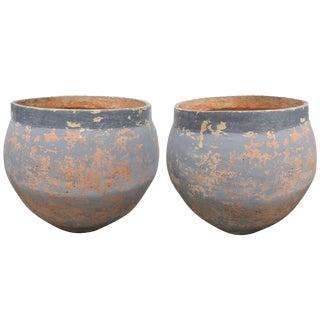 Antique Spanish Terracotta Planters, Circa 1900 - a Pair For Sale