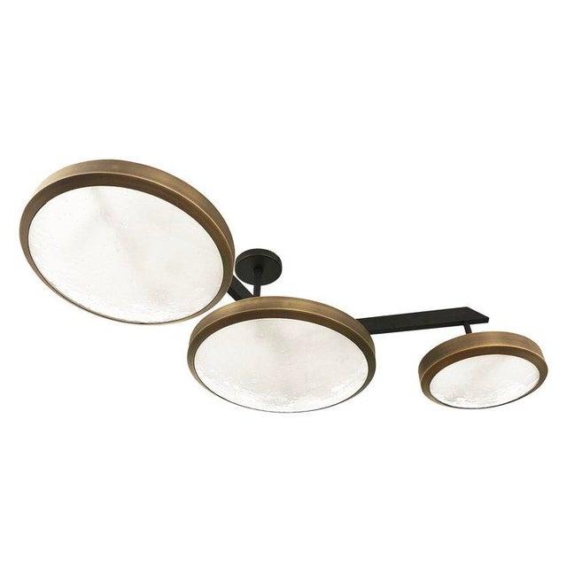 "Gaspare Asaro Gaspare Asaro FormA ""Zeta"" Black Bronze Edition Ceiling Light For Sale - Image 4 of 8"