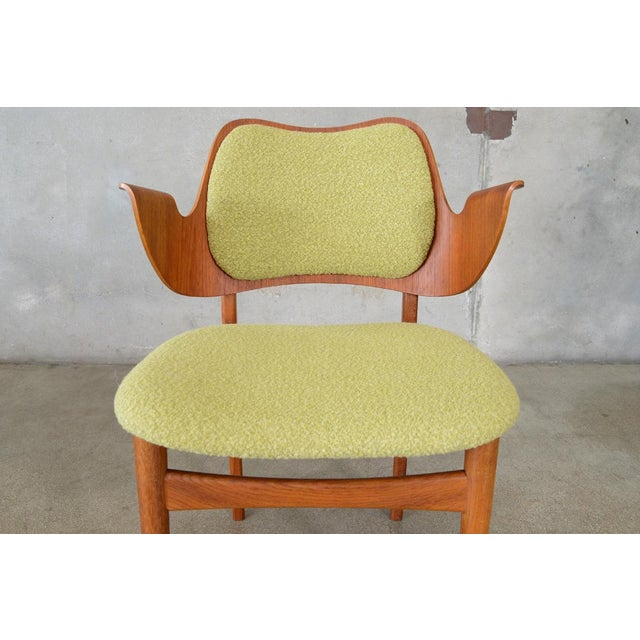 Hans Olsen Bent Teak & Oak Arm Chair - Image 8 of 8
