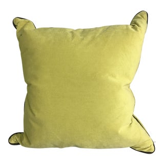 Velvet Throw Feather Down Pillow For Sale