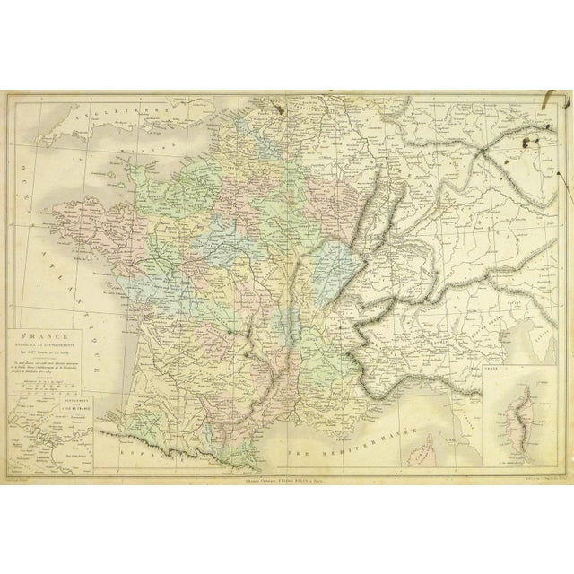 Antique Map of France, 1860 - Image 4 of 4