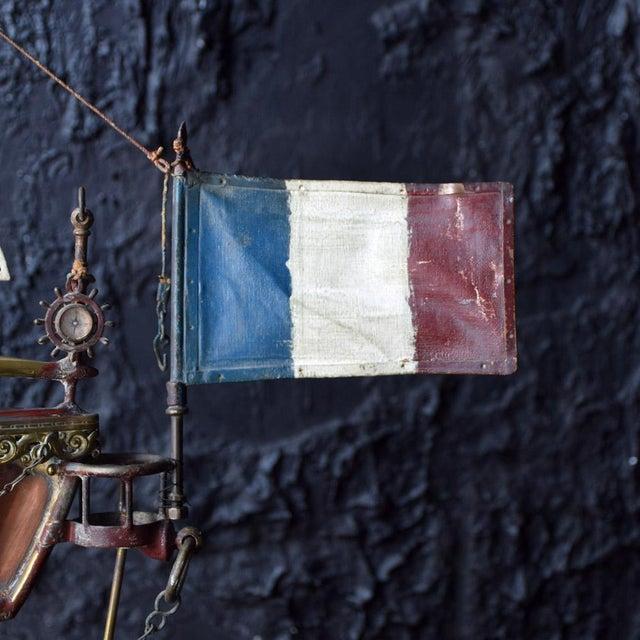 19th Century Votive Copper Sea Vessel For Sale - Image 9 of 13