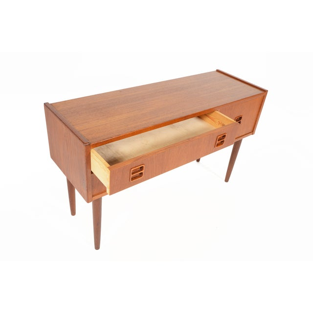Danish Modern Long Teak Console - Image 2 of 7