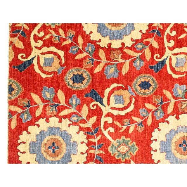 """Pasargad N Y Super Kazak Lamb's Wool Rug - 5'8"""" X 7'8"""" For Sale - Image 4 of 5"""