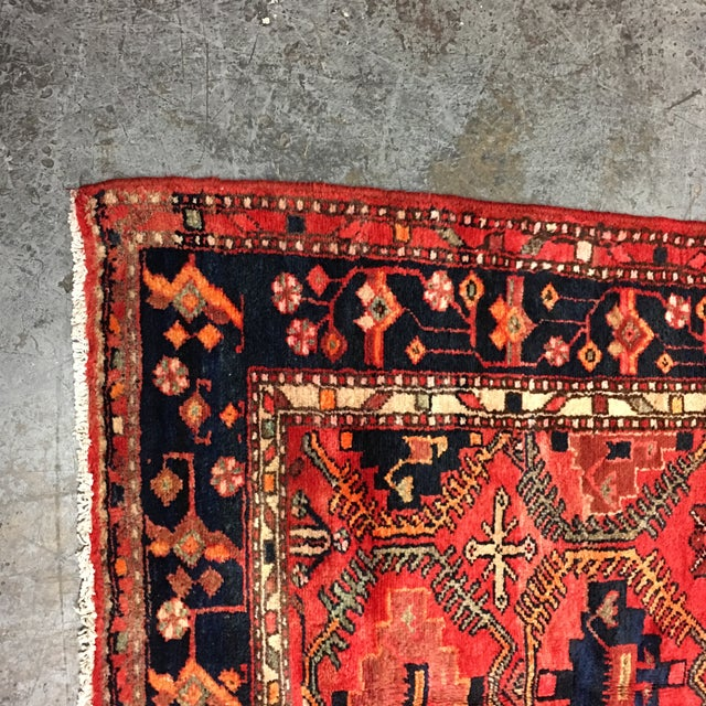 Hand Woven Wool Persian Rug - 4′3″ × 7′ For Sale - Image 4 of 7