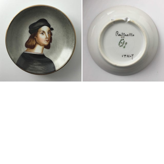 Hand-Painted Porcelain Portrait Plates by Richard Ginori - Set of 9 For Sale In Austin - Image 6 of 7