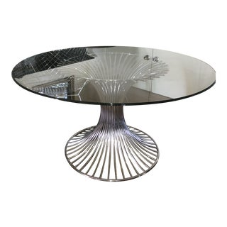 Mid 20th Century Modernist Chrome Dining Table For Sale