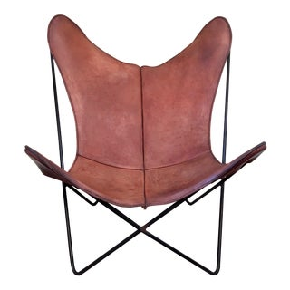 Vintage Jorge Ferrari Hardoy for Knoll Saddle Leather Butterfly Chair
