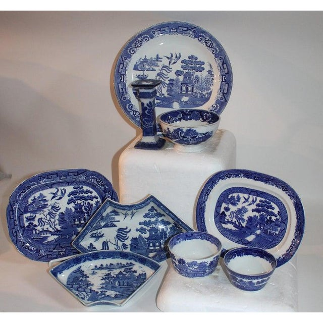 White 19th-20th Century Blue Willow Collection, 9 Pcs For Sale - Image 8 of 10