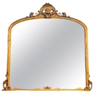 19th Century Giltwood Mirror, Wall, Console or Over the Mantle Victorian For Sale