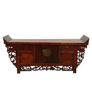 Antique Chinese Carved Miss Chest/Petit Altar Table
