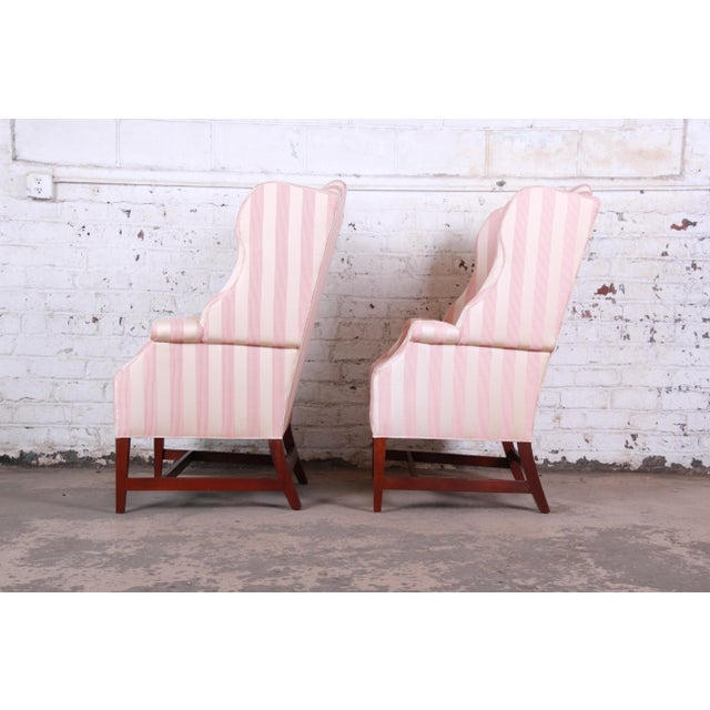 Baker Furniture Wingback Lounge Chairs, Pair For Sale - Image 10 of 13