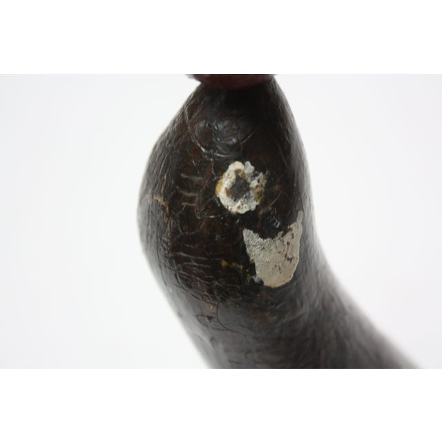 1930s Folk Art Carved and Hand-Painted Seal Sculpture For Sale - Image 9 of 13