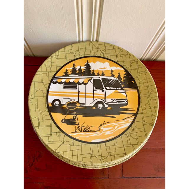 Camping Outdoor Dining Trailer Park Plates, Set of Eight For Sale - Image 12 of 12