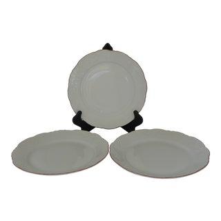 """""""Vista Alegre Manueline Red"""" Dinner Plates - Set of 3 For Sale"""