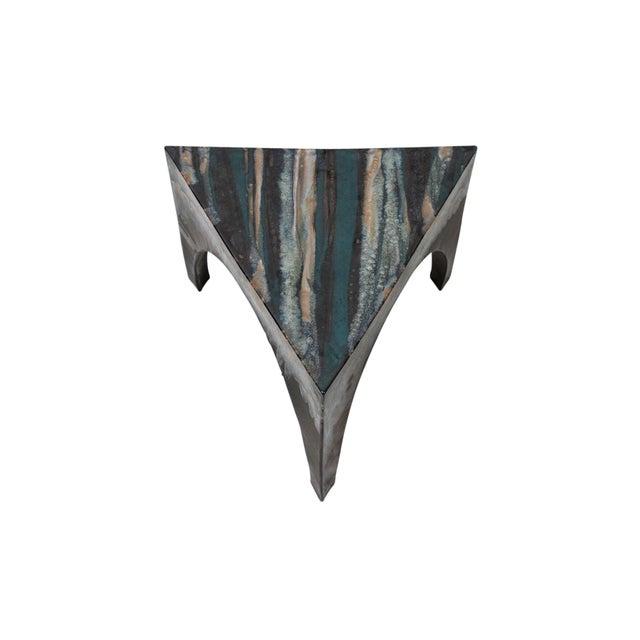 Black Sculptural Ceramic Stool For Sale - Image 8 of 11