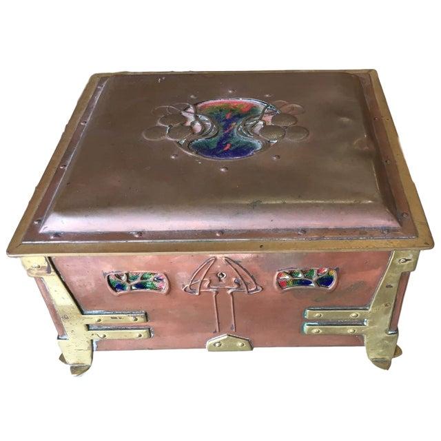 Vienna Secessionist Copper Trinket Box For Sale - Image 11 of 11