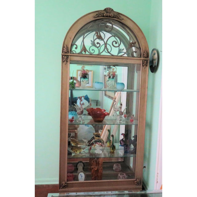 Glass Hollywood Regency Display Case For Sale - Image 7 of 8